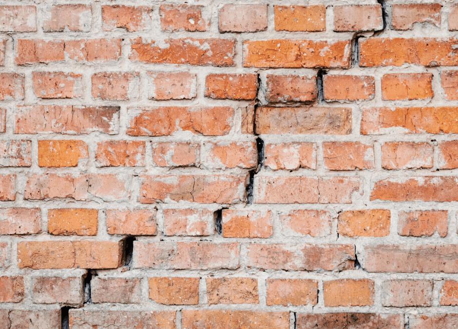 cracks in brick wall
